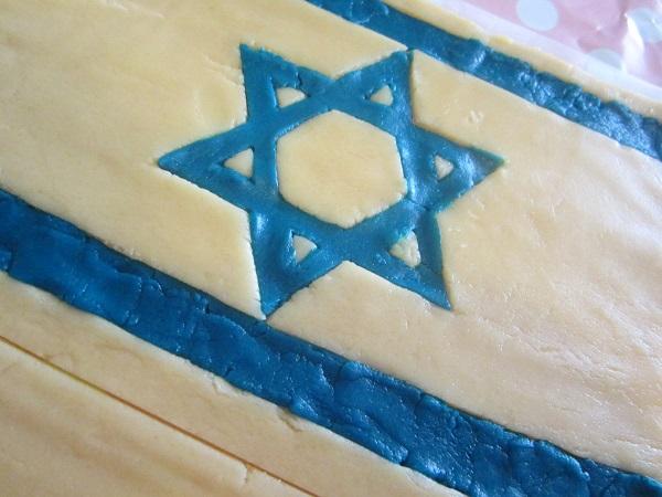 Ice Cream Sandwich Cake Israel Flag