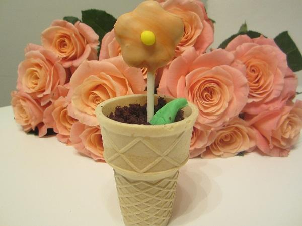 Little cake pop flower pot