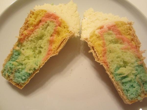 Multicolored Ice cream Cupcake