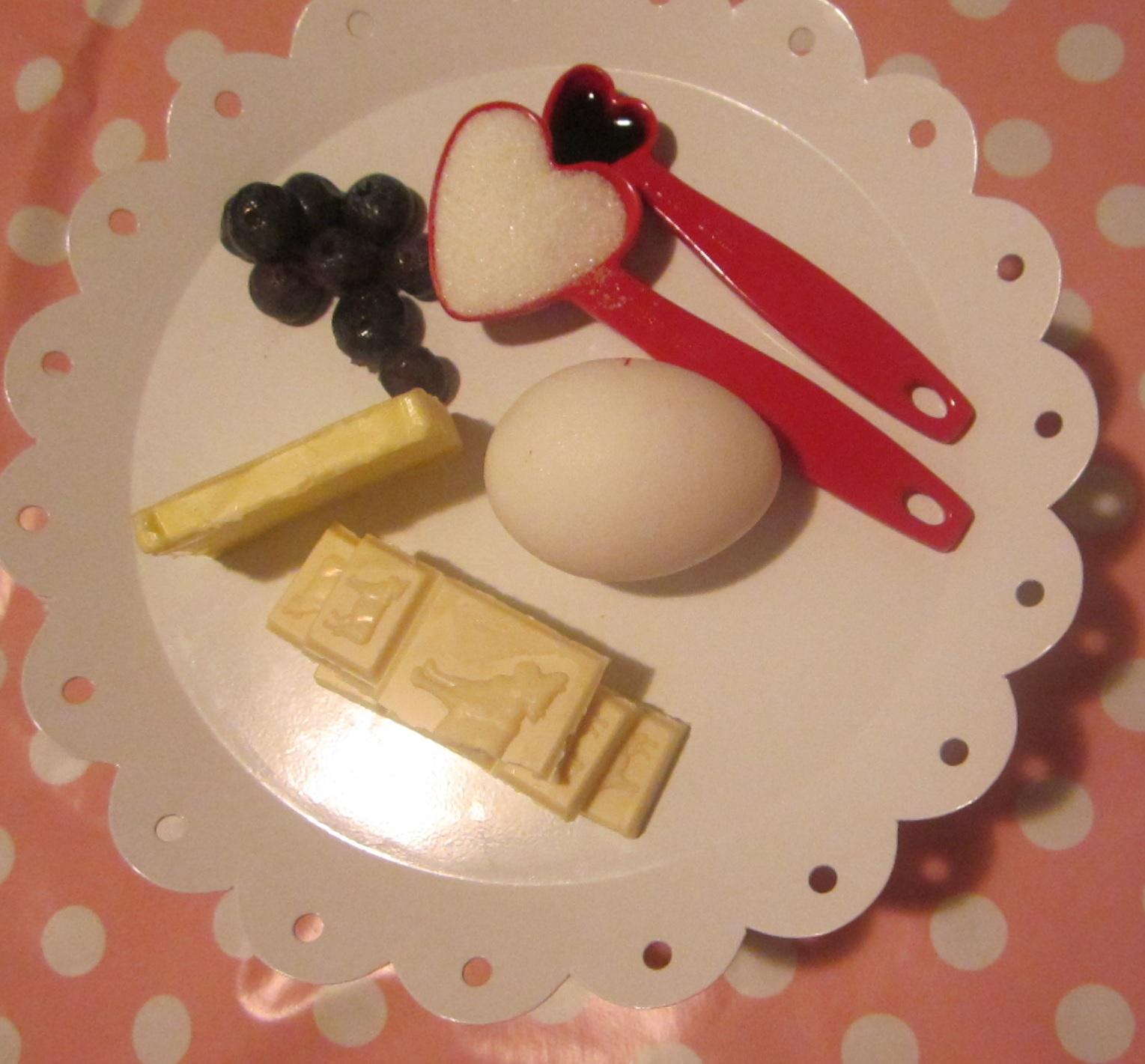 White Chocolate & Blueberry Souffle