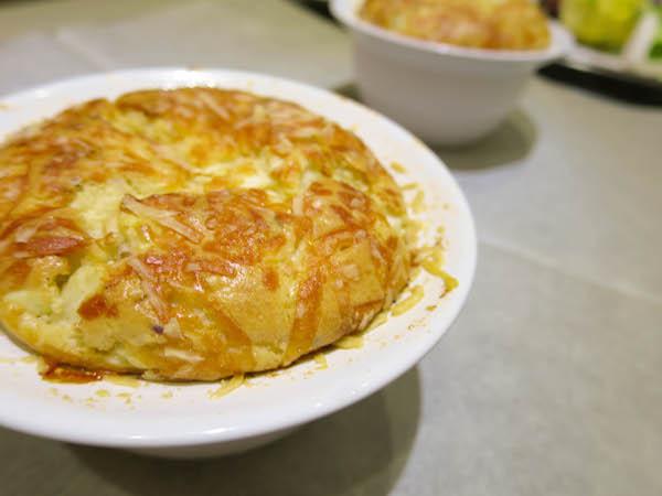 onion & feta cheese souffle
