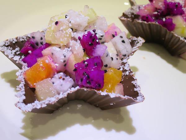 Dark chocolate & coconut dessert bowls