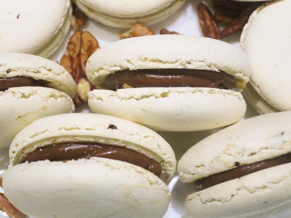 Coffee & Pecan Macarons