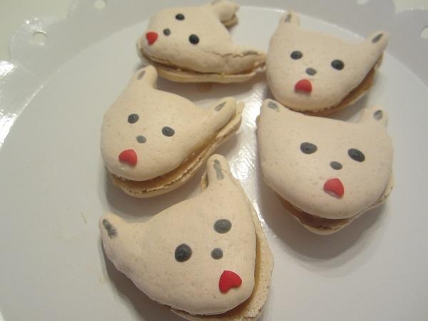 Salty Caramel Dogie Macarons
