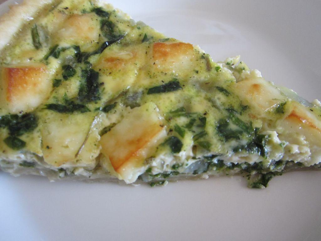 spinach & halloumi quiche