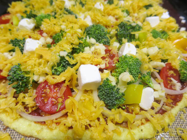 Cheddar & coconut flour pizza crust