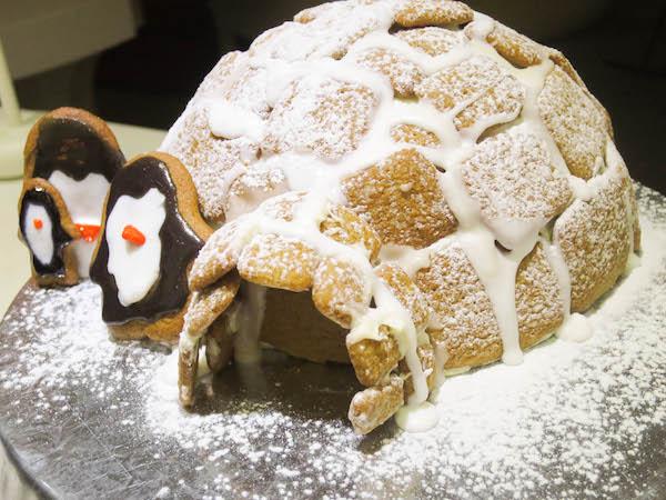 Gingerbread igloo